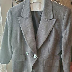 Christian Doir Wool Gray Skirt Suit